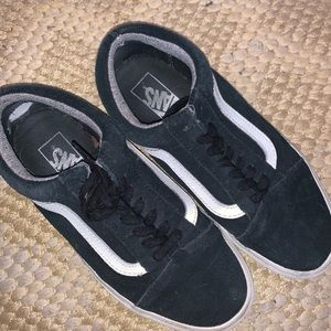 Low Top Black and White Vans